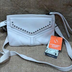 NEW The Sak leather cream white bag worn two ways